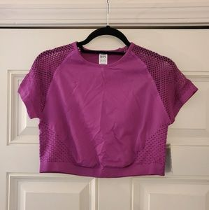 Short sleeved workout cropped top, Joy Lab